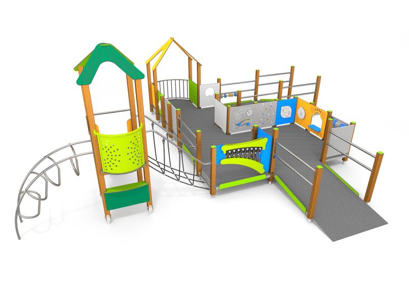 ECO drevená séria detské ihriská pre imobilné deti