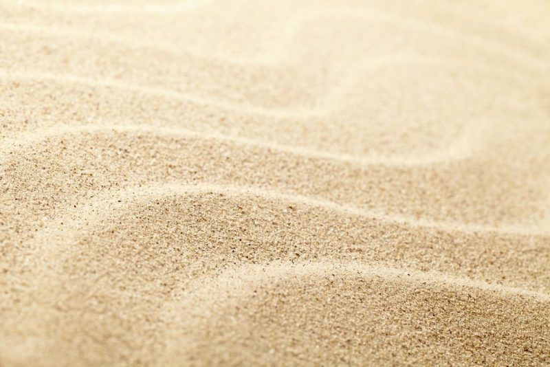 Dopadová plocha piesok frakcie (častice) 0,2 až 2mm.