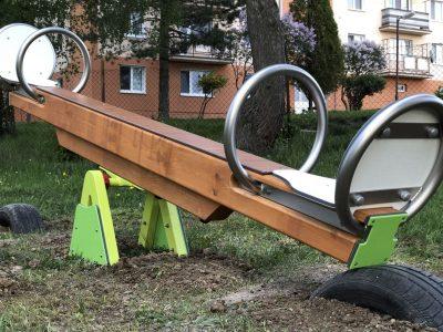 ECO drevená prevažovacia hojdačka A8013